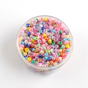 Perle de rocaille mix ceylon nacré