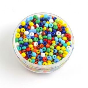 Perle de rocaille mix multicolore mat