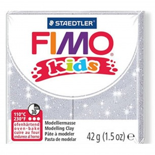 Fimo KIDS Glitter Argent